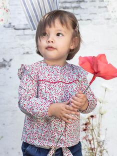 Camicia maniche lunghe con stampa a fiori neonata BAADELINE / 21H1BF11CHE001