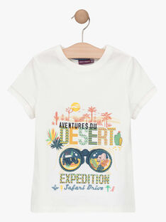 T-shirt maniche corte ecrù bambino TOFIAGE / 20E3PGQ1TMC001