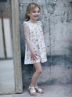 Abito bianco e giallo con stampa limone e a fiori bambina ZICITETTE / 21E2PFO1ROB000