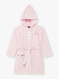 Accappatoio rosa maniche lunghe con cappuccio bambina BEBOPETTE / 21H5PF61PEI307