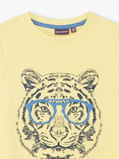 T-shirt giallo con motivo tigre ZUZAGE2 / 21E3PGL1TMCB117