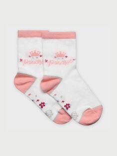 Calze bianche e rosa RABIXETTE / 19E4PF41SOQ001