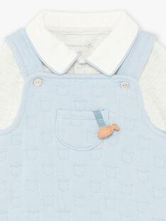 Completo salopette, body e calze con stampa orsetto nascita bambino BOON / 21H0CGK2ENS219