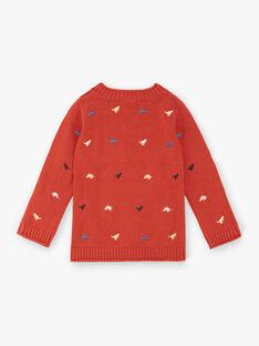 Maglia rosso mattone bambino ZEBLAGE / 21E3PGB1PUL506