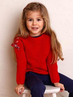 Maglia rossa bambina ZOPULETTE / 21E2PFB1PUL050
