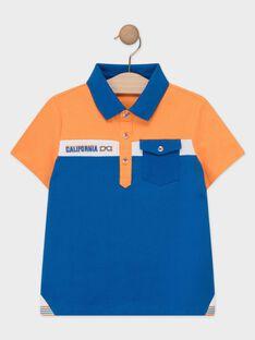 Polo arancione e blu bambino TEBRUAGE / 20E3PGG1POL400