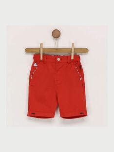 Pantaloni capri rossi RANIXON / 19E1BGE1PCOF510