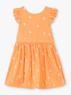 Abito arancione e bianco con stampa limone bambina ZIBRODETTE / 21E2PFO1CHS406