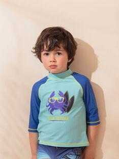 T-shirt anti-UV turchese bambino ZYSURFAGE / 21E4PGR1TUV202