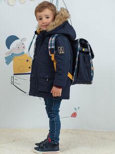 Cartella navy con motivi Londra e stampa a quadri bambino BAZECAGE / 21H4PG52BES070