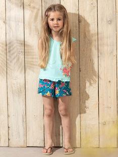 Shorts a fiori blu bambina TEUVETTE / 20E2PFX1SHO210