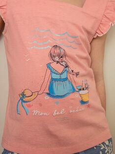 Canottiera rosa con stampa fantasia bambina ZUTOLETTE / 21E2PFT1TMCD305