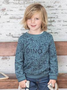 Felpa navy stampa dinosauri bambino BUWAGE2 / 21H3PGB1SWE614