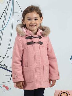 Cappotto rosa montgomery bambina BLODUFETTE / 21H2PFD1MAND314