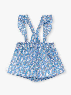 Abito salopette blu lavanda neonata ZAPHILOE / 21E1BFT1JUPC208