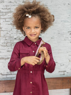 Abito sahariano rosso bambina BRORECETTE2 / 21H2PFB7ROB719