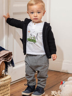 Pantaloni neri e bianchi a quadri neonato BADARIUS / 21H1BG21PAN090