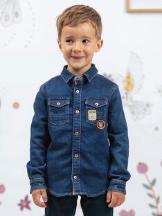 Camicia in jeans maniche lunghe bambino BENOUAGE / 21H3PG91CHMP269