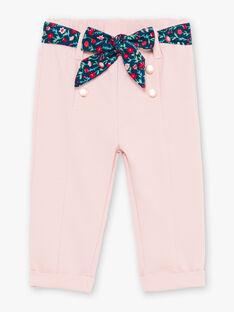 Pantaloni rosa chiaro e cintura neonata BAGARA / 21H1BF91PAND329