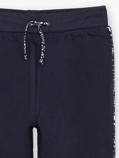 Pantaloni sportivi navy con dettagli stampati bambina BROJAETTE / 21H2PFF1JGB070