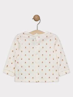 T-shirt ecrù con stampa neonata SAGISELE / 19H1BF61TML001