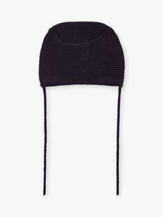 Berretto in maglia navy neonata BINANCY / 21H4BFC2BON070