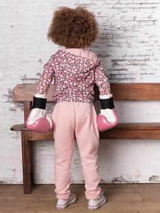 Pantaloni sportivi rosa bambina BRODETTE / 21H2PF31JGBD314