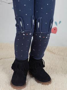 Leggings blu a pois con motivo coniglio bambina BYGOETTE / 21H4PFL1CAL715