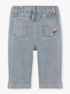 Jeans denim grigi neonato BAPABLO / 21H1BGM1JEAK004