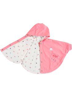 Mantella da pioggia rosa neonata TAFALA / 20E1BFD1CPE415