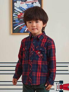 Camicia in tartan rossa bambino BOCHAGE / 21H3PGM1CHM001