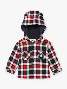 Camicia con cappuccio e a quadri blu neonato BAPRINCE / 21H1BGM1SCHC228
