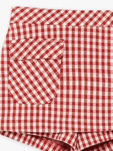 Gonna shorts a quadri rossa bambina BUSHOETTE / 21H2PFJ1SHO001