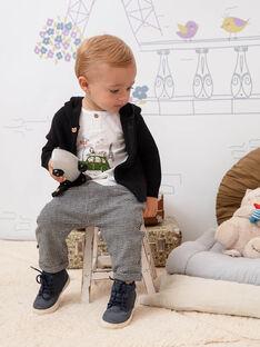 Cardigan con cappuccio nero neonato BADEAN / 21H1BG21GIL090