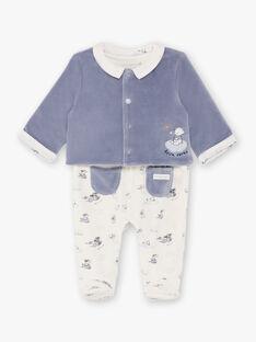 Tutina e cardigan bianco e blu nascita bambino BOBBY / 21H0NG41ENS216