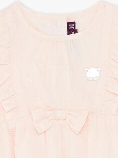 Pagliaccetto rosa chiaro in cotone testurizzato ZACHIARA / 21E1BFI1BARD319