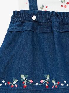 Completo body ecrù a maniche corte e abito scamiciato in jeans ZAAUDREY / 21E1BFJ1ENS001