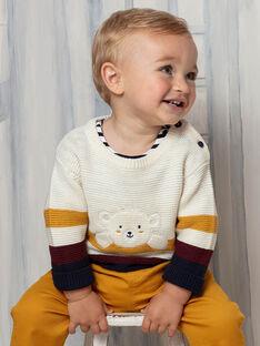 Maglia beige e gialla neonato BAFLO / 21H1BG51PUL801