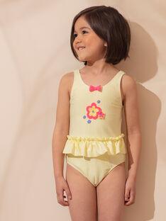 Costume intero giallo a righe bambina ZAINAETTE / 21E4PFR2D4KB102