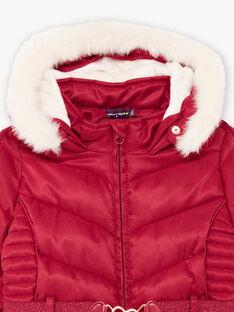 Piumino double face rosso con stampa fantasia neonata BLODODETTE1 / 21H2PFD2D3ED302