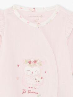 Tutina e berretto rosa nascita bambina BOUDY B / 21H0NF41GRE301