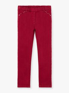 Pantaloni bordeaux bambina BROSAETTE2 / 21H2PFB1PAN719