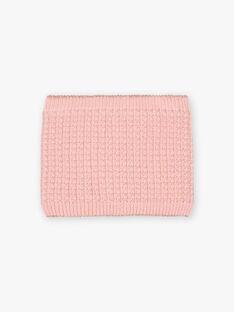 Scaldacollo rosa con motivi cuori bambina BLODYETTE / 21H4PFD3SNOD300