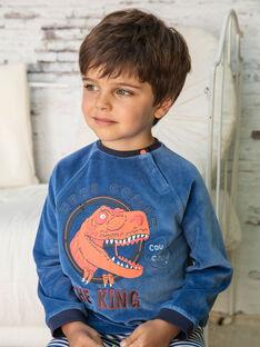 Pigiama t-shirt e pantaloni navy e bianco bambino BEDINAGE / 21H5PG65PYJ208
