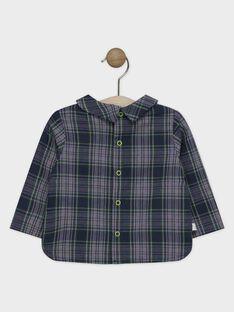 Camicia in tela di cotone a quadri neonato SAMAURICE / 19H1BGC2CHM705