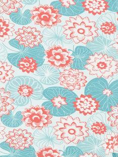 Fuseaux verde e corallo stampa fiori di loto in jersey ZACLAIRE / 21E4BFI2CAL629