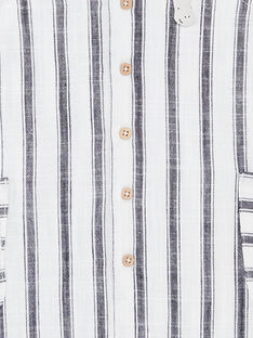 Tuta blu inchiostro e bianco neonato ZAOTIS / 21E1BGT2CBLC214