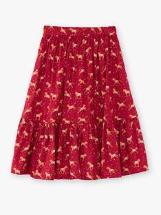 Strawberry rose SKIRT VUSYLVETTE / 20H2PFQ1JUP308