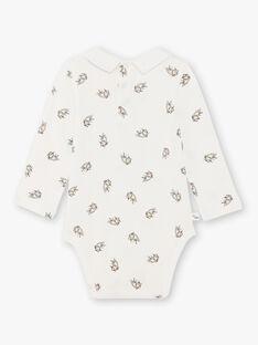 Body bianco e grigio stampa gattino neonato BADUNCAN / 21H1BG21BOD632