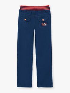 - Pantaloni blu con elastico in vita ZAFUNAGE / 21E3PGI1PAN705